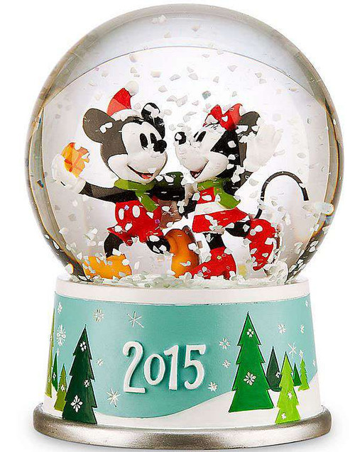 Disney 2015 Mickey Mouse & Minnie Mouse Exclusive Snow Globe