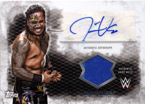 WWE Wrestling Topps 2015 Undisputed Jimmy Uso Autograph & Relic Card UAR-JU