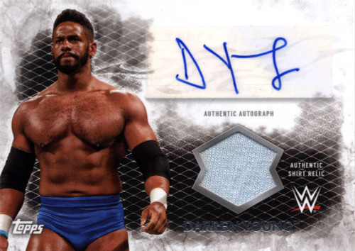WWE Wrestling Topps 2015 Undisputed Darren Young Autograph & Relic Card UAR-DY