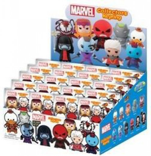 3D Figural Keyring Marvel Series 4 Mystery Box [24 Packs]