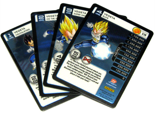 Dragon Ball Z Trading Card Game 2015 Evolution Starter Set Set of 4 Vegeta Personality Fixed Single Cards