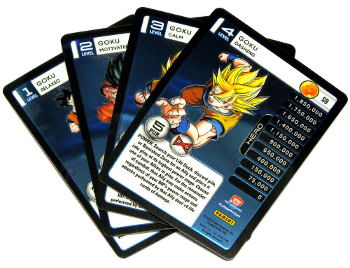 Dragon Ball Z Trading Card Game 2015 Evolution Starter Set Set of 4 Goku Personality Fixed Single Cards