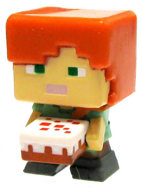 Minecraft Obsidian Series 4 Alex with Cake 1-Inch Mini Figure [Loose]