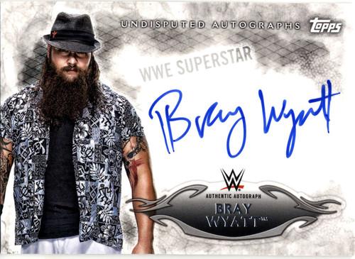 WWE Wrestling Topps 2015 Undisputed Bray Wyatt Autograph Card UR-BW