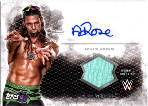 WWE Wrestling Topps 2015 Undisputed Adam Rose Autograph & Relic Card UAR-AR
