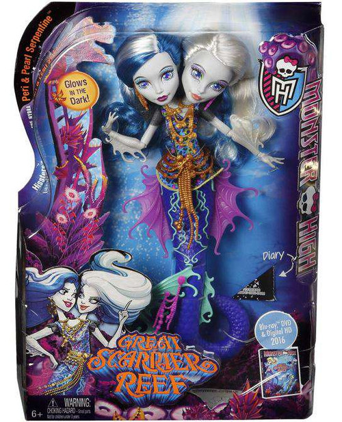 Monster High Great Scarrier Reef Peri & Pearl Serpentine 10.5-Inch Doll