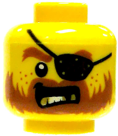 Male Head with Eye Patch and Gold Teeth Minifigure Head [Loose]