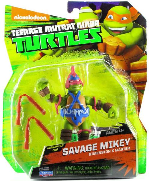 Teenage Mutant Ninja Turtles Nickelodeon Savage Mikey Action Figure
