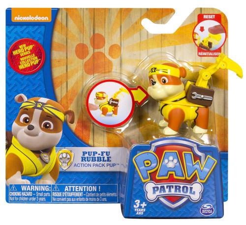Paw Patrol Action Pack Pup Pup-Fu Rubble Figure