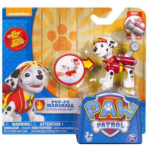Paw Patrol Action Pack Pup Pup-Fu Marshall Figure