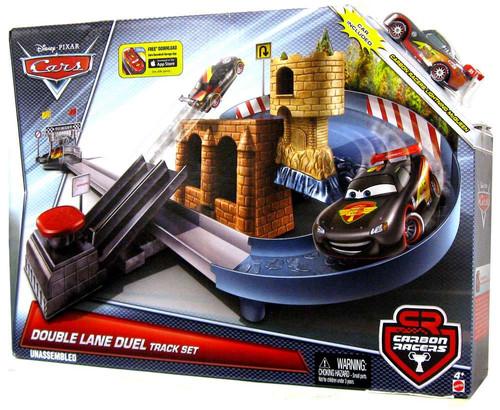 Disney / Pixar Cars Carbon Racers Double Lane Duel Diecast Car Track Set [Includes Carbon Lightining McQueen]