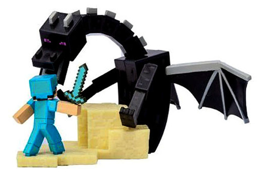 Minecraft Craftables Series 1 Enderdragon Fight 3-Inch Chase Figure PVC Figure [Loose]