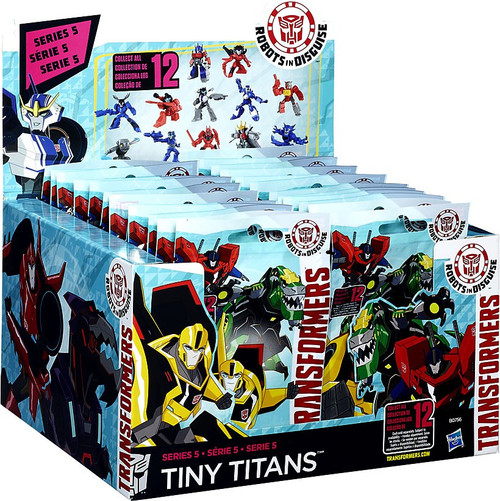 Transformers Robots in Disguise Tiny Titans Series 5 Mystery Box [24 Packs]