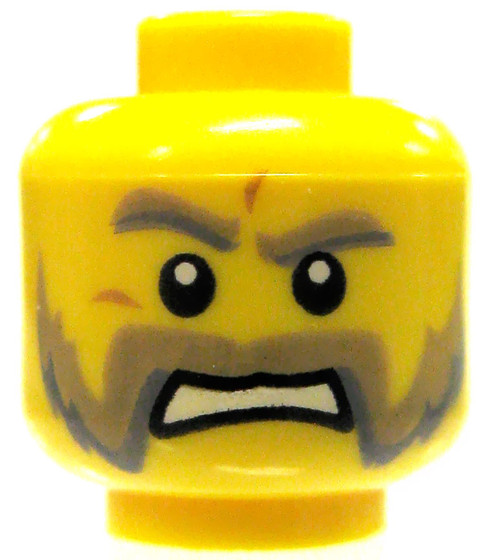 Yellow Male with Friendly Mutton Chops Minifigure Head [Loose]