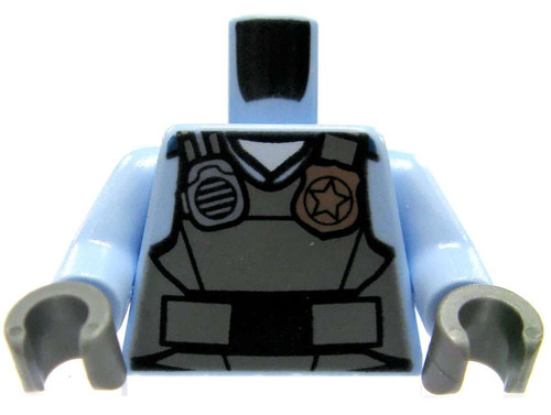 LEGO Medium Blue Police Tactical Vest Loose Torso [Loose]