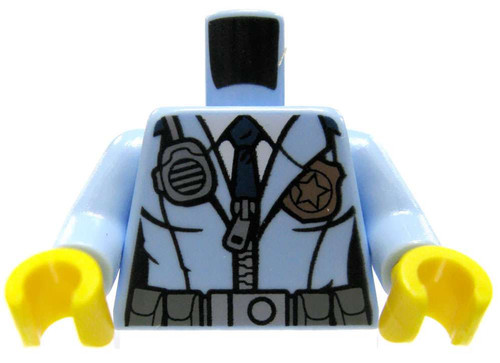 LEGO Medium Blue Female Police Uniform Loose Torso [Loose]