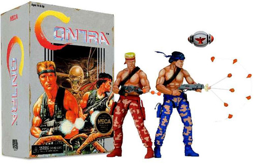 NECA Contra Video Game Tribute Series Bill & Lance Action Figure 2-Pack [Video Game Appearance]