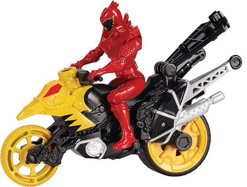Power Rangers Dino Charge Dino Stunt Bike & T-Rex Super Charge Red Ranger Action Figure & Vehicle