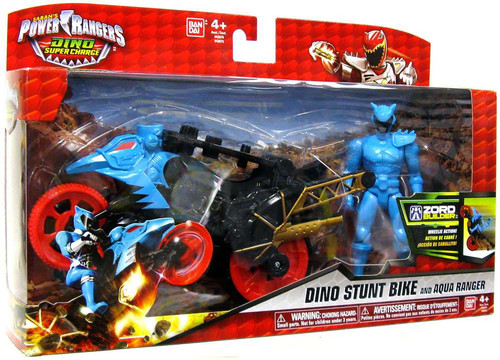 Power Rangers Dino Charge Dino Stunt Bike & Aqua Ranger Action Figure & Vehicle