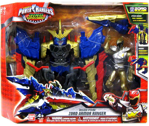 Power Rangers Dino Super Charge Ptera Zord Armor Ranger Deluxe Action Figure