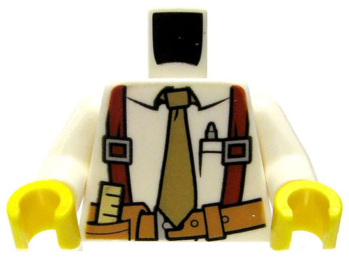 LEGO White Foreman Design with Suspenders and Toolbelt Loose Torso [Loose]