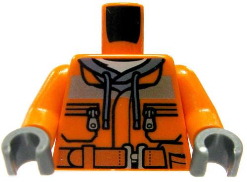 LEGO Orange Construction Worker Design with Hoodie Loose Torso [Loose]