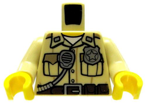 LEGO Tan Male Officer with Radio & Badge Loose Torso [Loose]