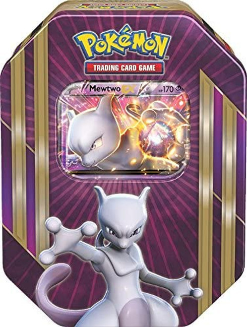 Pokemon Trading Card Game 2016 Mewtwo-EX Tin Set [4 Booster Packs & Promo Card!]