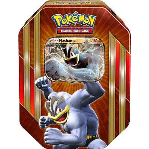 Pokemon Trading Card Game 2016 Machamp-EX Tin Set [4 Booster Packs & Promo Card!]