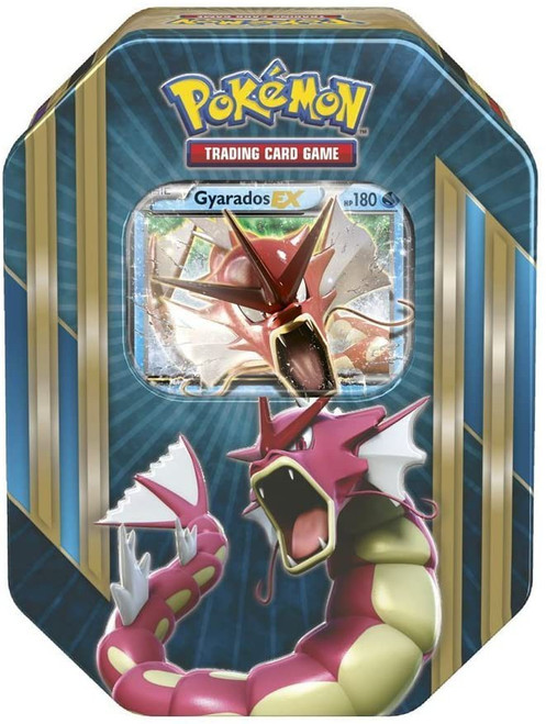 Pokemon Trading Card Game 2016 Shiny Gyarados-EX Tin Set [4 Booster Packs & Promo Card!]