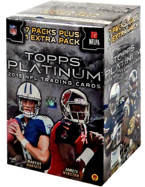 NFL Topps 2015 Platinum Football Trading Card BLASTER Box [7 Packs + 1 Extra Pack]