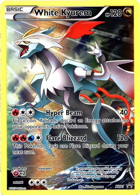 Pokemon X & Y Promo Promo Holo Full Art White Kyurem XY81