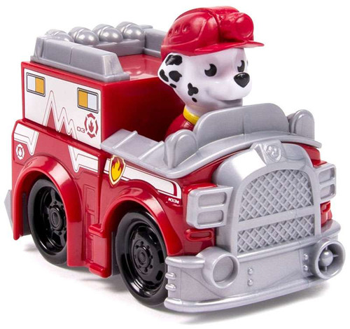 Paw Patrol Rescue Racer Marshall in EMT Vehicle Figure [Figure Does Not Come Out!]