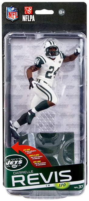 McFarlane Toys NFL New York Jets Sports Picks Series 37 Darrelle Revis Action Figure [White Jersey]