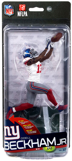 McFarlane Toys NFL New York Giants Sports Picks Series 37 Odell Beckham Jr. Action Figure [White Jersey, Grey pants]