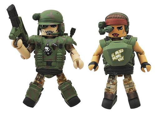 Aliens Minimates Series 2 Pvt. Vasquez & Pvt. Hudson 2-Inch Minifigure 2-Pack