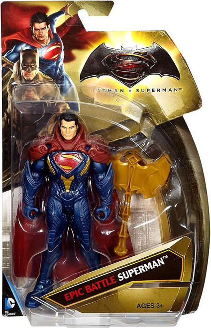 DC Batman v Superman: Dawn of Justice Epic Battle Superman Action Figure [Armor]
