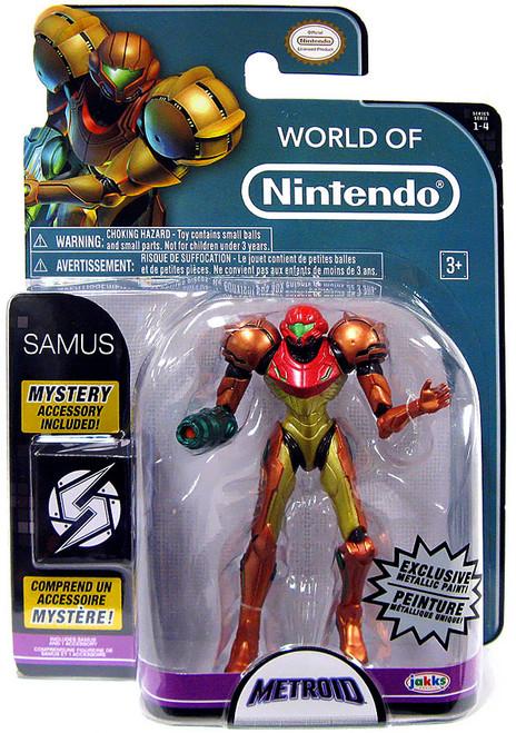World of Nintendo Metroid Samus Exclusive Action Figure [Metallic Paint]