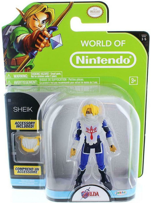 World of Nintendo Series 5 Sheik Ocarina of Time Action Figure