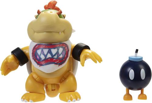 World of Nintendo Super Mario Bowser Jr. Action Figure [Includes Bob-omb! RANDOM Package, Same Exact Figure!]