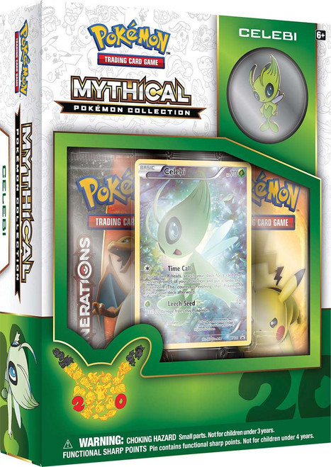 Pokemon Trading Card Game Mythical Celebi Collection Box [2 Booster Packs, Promo Card & Pin!]