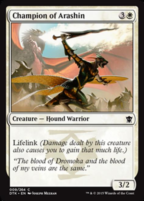 MtG Dragons of Tarkir Common Foil Champion of Arashin #9