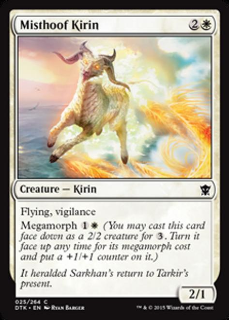 MtG Dragons of Tarkir Common Foil Misthoof Kirin #25