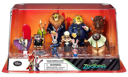 Disney Zootopia Exclusive 10-Piece PVC Figure Play Set