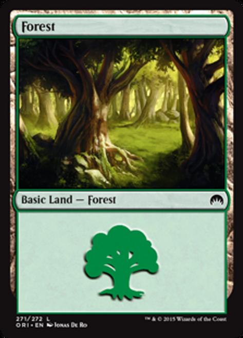MtG Origins Land Foil Forest #270