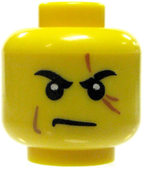 Yellow Male with Scars over Left Eye Minifigure Head [Loose]