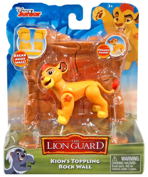 Disney The Lion Guard Kion's Toppling Rock Wall Figure Pack
