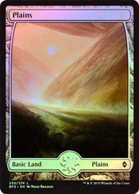 MtG Battle for Zendikar Land Plains #250 [Full-Art Foil]
