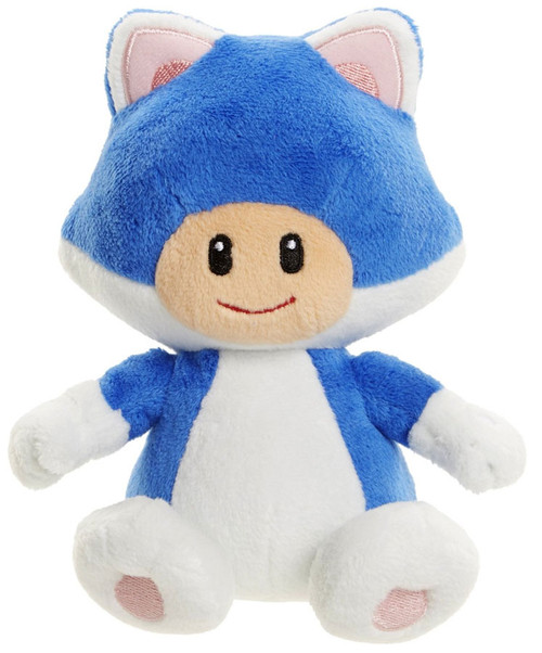 World of Nintendo Super Mario Cat Toad 7-Inch Plush