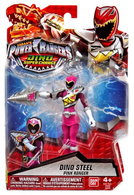 Power Rangers Dino Super Charge Dino Steel Pink Ranger Action Figure